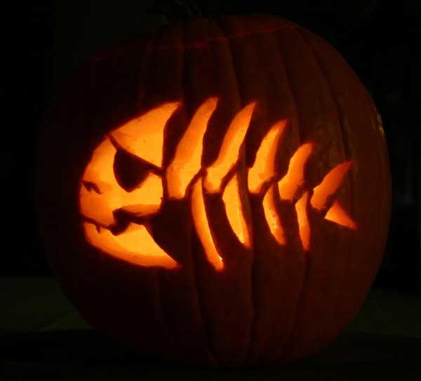 Fsm halloween for Pumpkin eating pumpkin stencil