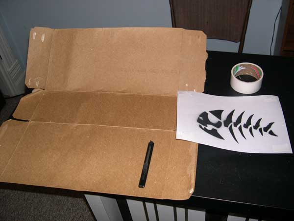 how to make your own pirate fish stencil. Black Bedroom Furniture Sets. Home Design Ideas