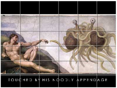 6 x 6 Touched by His Noodly Appendage