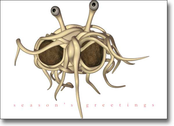 spaghetti monster essay It is absolutely imperative that they realize that observable evidence is at the discretion of a flying spaghetti monster  open letter to the kansas school board.