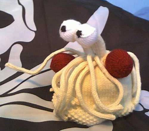 Ravelry: Mini Flying Spaghetti Monster (FSM) pattern by Susan Henry | 440x500