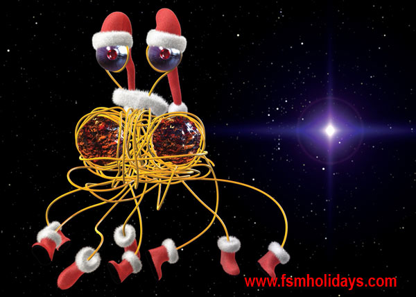 FSM Holiday Cards « Church of the Flying Spaghetti Monster