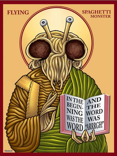 fsm and raptor jesus church of the flying spaghetti monster
