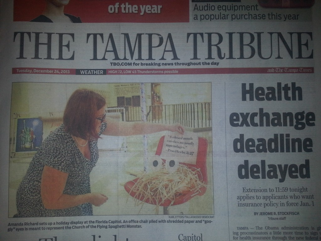 Tampa Tribune front page