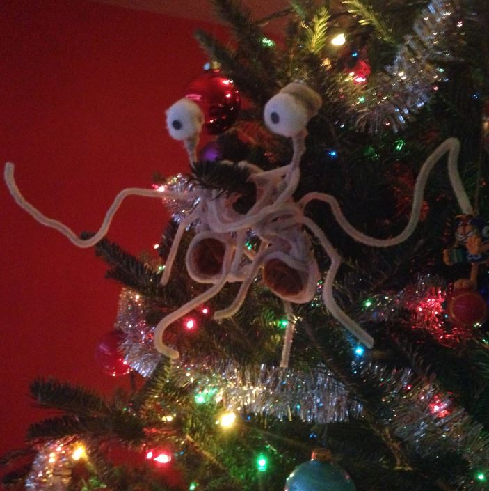 Tyler's pipe cleaner ornament